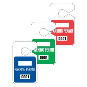Large Rearview Mirror Parking Hang Tags - OVERSTOCK
