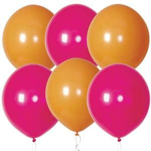 """Orange and Pink Balloons 17"""" - OVERSTOCK"""