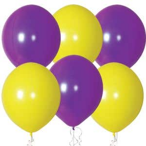"""Yellow and Purple Balloons 17"""" - OVERSTOCK"""