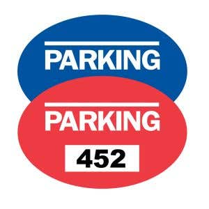 Parking Permit Inside Adhesive Oval Shape - OVERSTOCK