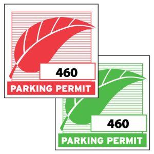 Square Inside Window Parking Sticker - OVERSTOCK