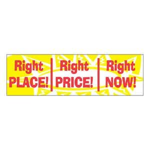 """""""Right Place Right Price Right Now"""" Banner - OVERSTOCK"""