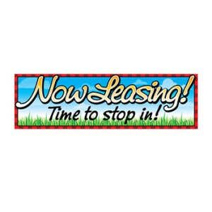 """""""Now Leasing"""" Grass and Sky Banner - OVERSTOCK"""