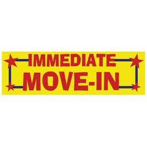"""Immediate Move-In"" Banner - OVERSTOCK"