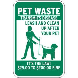 $25-$200 Fine Pet Waste Sign