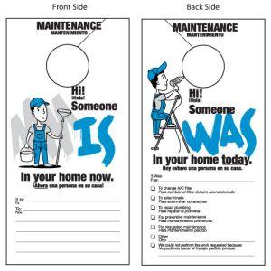 Bilingual Maintenance Door Hanger