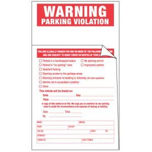 2-Part Parking Violation Stickers