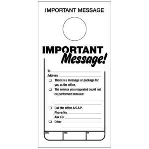 Important Message Door Hangers