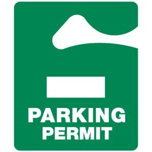 Solid Green Parking Hang Tag