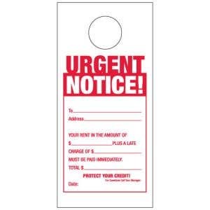 Late Rent Notice Door Hangers