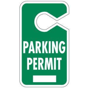 Solid Green Large Parking Hang Tag