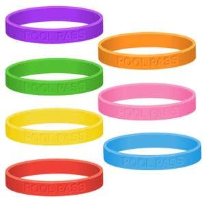 Adult Silicone Wristband Pool Passes - OVERSTOCK