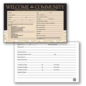 Black and Tan Guest Cards