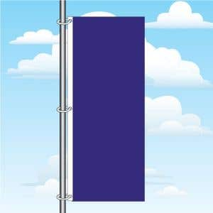 3'x8' Vertical Flag - Solid Color
