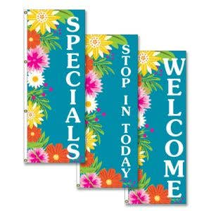 Tropical Blooms Vertical Flag - OVERSTOCK