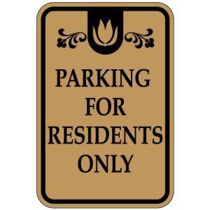 Parking for Residents Designer Sign