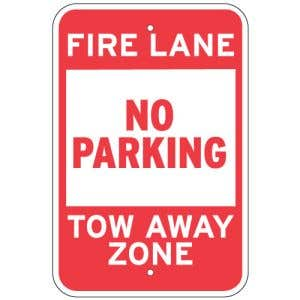 Fire Lane No Parking Tow Sign