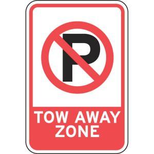 No Parking Symbol Tow Away Sign - OVERSTOCK