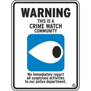 Warning Neighborhood Watch Aluminum Sign