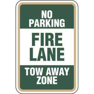 Fire Lane No Parking Sign - OVERSTOCK