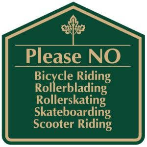 Please No Bicycle Riding Sign - OVERSTOCK