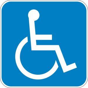 Texas ADA Handicap Symbol Sign - OVERSTOCK