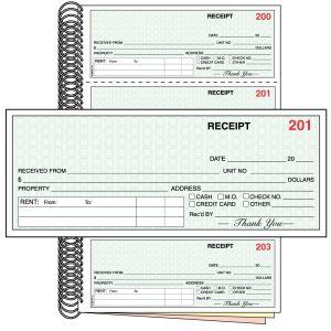Rent Receipt Book - Standard - 3 Part - OVERSTOCK