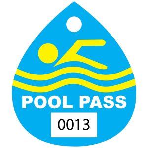 Pool Pass - Swimmer Water Drop - OVERSTOCK