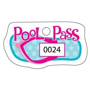 Pool Pass - Aqua Flip Flop - OVERSTOCK