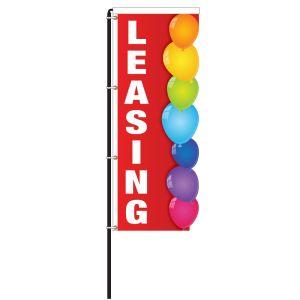 Leasing Red Balloons Windless 3D Flag Kit - OVERSTOCK
