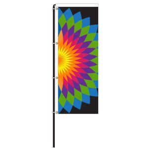 Floral Burst Windless Flag Kit - OVERSTOCK