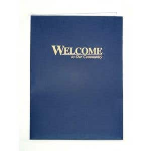 Welcome Folders - Gold Stamped - OVERSTOCK