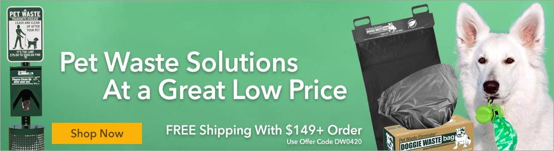 Pet Waste Solutions at a Great Low Price Free Shipping with $149+ order
