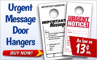 Urgent Message Door Hangers