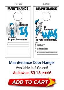 Maintenance Door Hanger